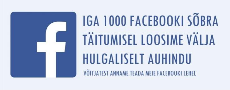 Hakka meie facebooki sõbraks